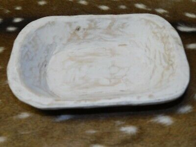 """Carved Wooden Dough Bowl Primitive Wood Trencher Tray Rustic Home Decor 9 3/4"""""""