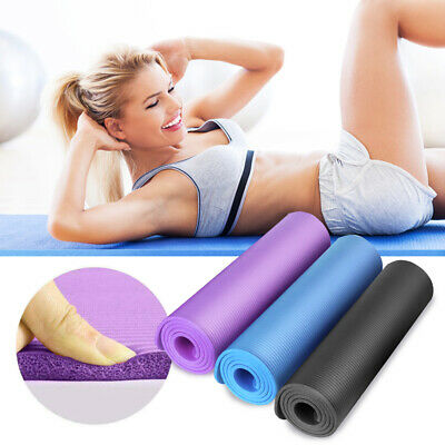 15MM Yoga Mat Thick Non-slip Durable Exercise Fitness Gym Extra Mats Pad Pilates