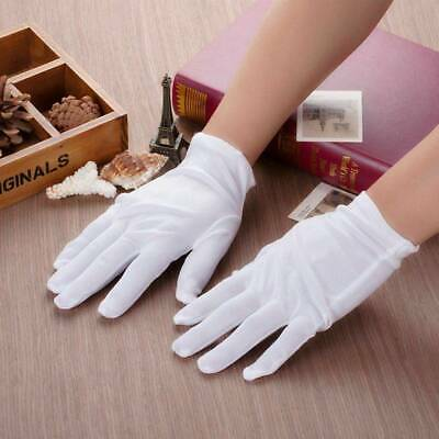 12 Pairs White Gloves Cotton Soft XL Size For Waiter Driver Archives Antique
