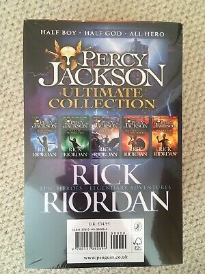 NEW Percy Jackson The Ultimate Collection 5 Book Set Rick Riordan (RRP £34.95)