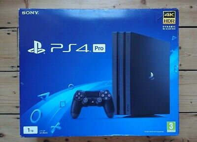 PlayStation PS4 Pro Glacier Black 1TB (EMPTY DISPLAY BOX ONLY) Console & Inserts