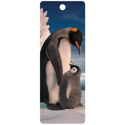 Penguin and son 3D bookmark 15cm x 5.75cm with tassel