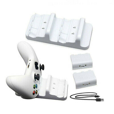 For Xbox One Dual Controller Charger Charging Dock Station +2 Extra Battery Pack