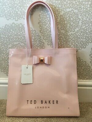 Ted Baker Icon Shopper Shopping Bag Large Brand New BNWT Pink Rose Gold Bow