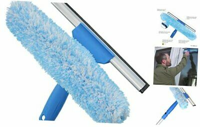 Unger Professional Window Cleaning Tool: 2-in-1 Microfiber Scrubber and 10-inch