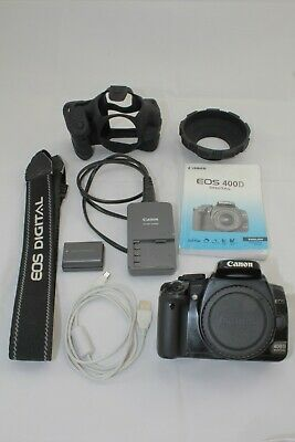 Canon EOS 400D 10.1MP Digital SLR Camera - Black (Body Only)