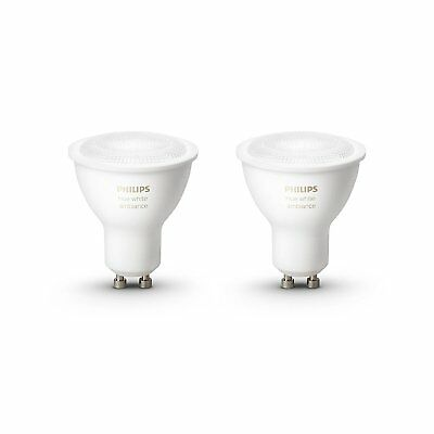 Philips Hue White Ambience Personal Wireless Lighting 2 x 5.5W GU10 Twin Pack