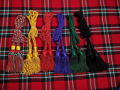 SCOTTISH BAGPIPES SILK DRONE CORD BLACK WATCH//HIGHLAND BAGPIPE SILK DRONECORD
