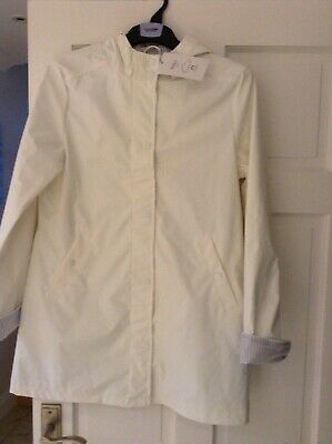 White Stormwear Marks And Spencer Hooded Coat Jacket. 13 To 14 Yrs-Bnwt