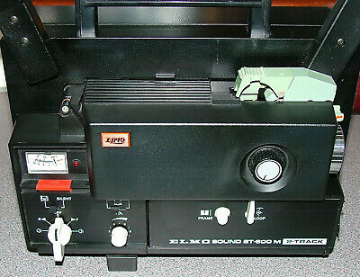 Elmo St600M Super-8 Twin Track Projector- Fully  Serviced #2