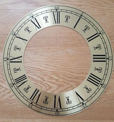 NEW - 12 Inch Chapter Ring Clock Zone Dial Face - Gold / Brass Finish 305mm