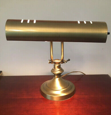 Brushed Brass Plated Piano Lamp Desk Electric