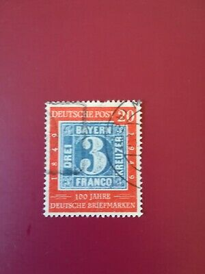 West Germany, 1949 Centenary of 1st German Stamps, 20pf (SG1037), Used.