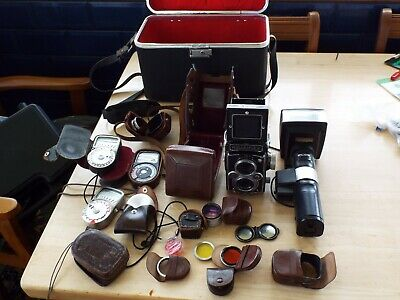 rolleiflex twin lens camera outfit