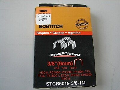 Stanley Bostitch ~ STCR5019-3/8-1M ~ 3/8'' ~ 1 Pack -1000 ~ Free s/h in USA