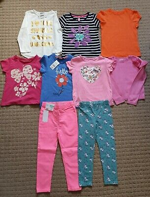 Girls Age 5-6 Years Clothes Bundle Some New Tops, Leggings, Next & George