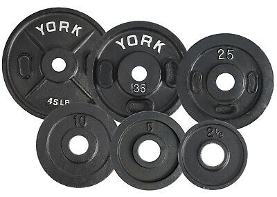 "2 x 2.5lb  YORK Olympic 2"" Weight Plates *Made In USA* - Fast Priority Shipping!"