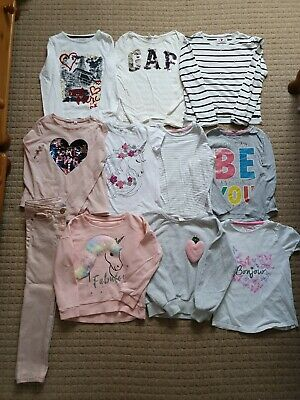 Girls Age 7-8 Years Play Clothes Bundle Tops & Jeans Gap, Next & F&F