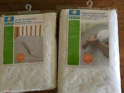 Fitted Crib Waterproof Mattress Cover + Extra Pad