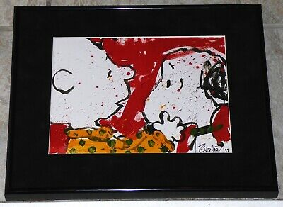 Tom Everhart Peanuts Snoopy Charlie Brown Doggy Dearest Framed Print
