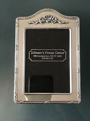 Antique Sterling Silver English Picture Frame