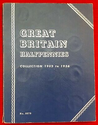 Great Britain Halfpennies Collection 1902 to 1936 COMPLETE Whitman Folder
