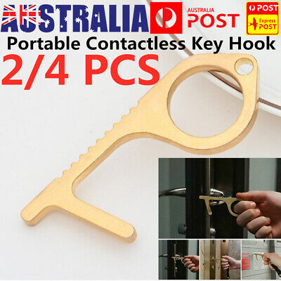 2/4 Door Opener Contactless Safety Protection NO Touch Elevator Handle Key Hook