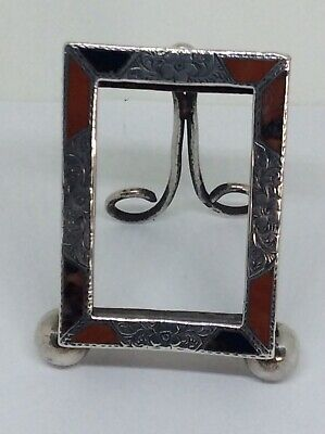 Rare Small Travelling Solid silver Agate Photograph Frame By James Fenton
