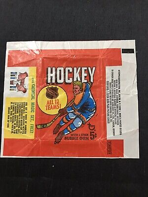 Rare 1968-69 Topps Hockey 5 Cent Wax Pack Wrapper