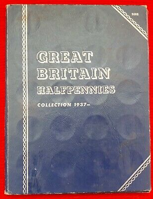 Great Britain Halfpennies Collection 1937 to 1967 COMPLETE Whitman Folder