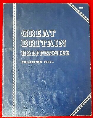 Great Britain Half Pennies Collection 1937-1967 Whitman Folder COMPLETE