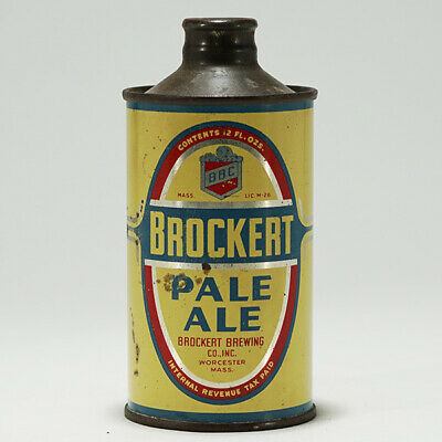 Brockert Brewing Pale Ale J-Spout Cone Top Beer Can Worcester MA 154-24 -NICE-