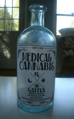Vintage Sativa Medical Cannabis -For Medical Use Only- Repro Bottle- Empty