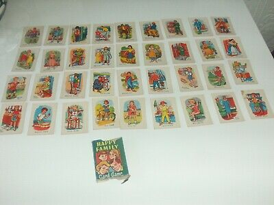 Vintage Playing Cards.happy Families. Complete Set.