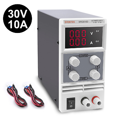 DC Power Supply Variable, 0-30V / 0-10A Eventek Adjustable Switching Regulated