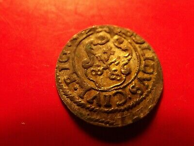 Sweden 1649 Livonia Queen Chistina RIGA solidus silver Medieval W 30 years coin