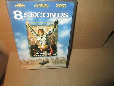 8 SECONDS rare dvd Rodeo Bull Rider LANE FROST STORY Luke Perry 1990s MINT