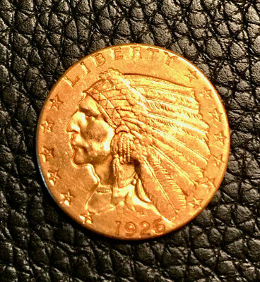 1926 US $2.50 Indian Head GOLD Coin! BEAUTIFUL Details!