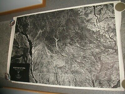 Large 1969 Geology Map State of Iowa 1975 Geological Survey Relief Map Iowa