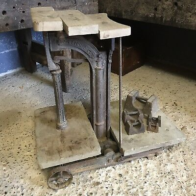 Antique W & T Avery Cast Iron Wooden Potato Weighing Scales Garden Salvage Stand