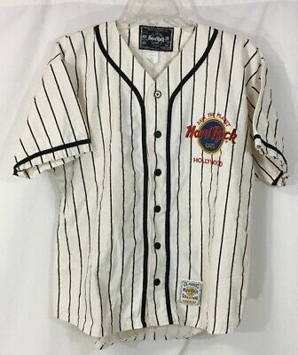 Hard Rock Cafe Hollywood Save the Planet Baseball Jersey Shirt Men Med