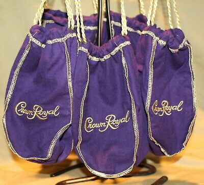 Crown Royal Pint Sized  Purple Bags - Lot of 50
