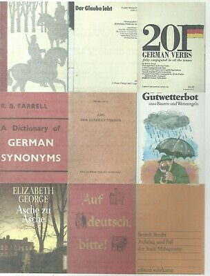 138 German books-includes language learning books & tapes;novels;German history