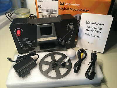 Wolverine Film2Digital Moviemaker 8mm and Super 8 Film Scanner