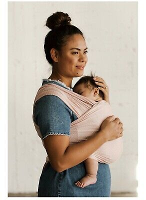 Solly Baby Wrap Blush Pink Swiss Dot, Gently Used