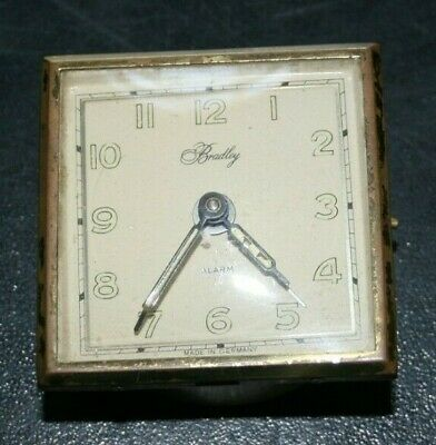 Bradley Alarm Clock Germany Antique Non-Working Parts Repair Restore Only