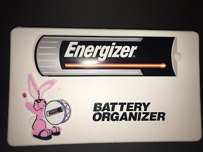 Vintage Advertising Plastic Energizer Bunny Battery Organizer Box-NEW