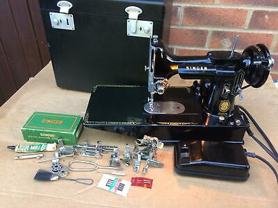 1955 Singer 222k Featherweight Free Arm Portable Sewing Machine