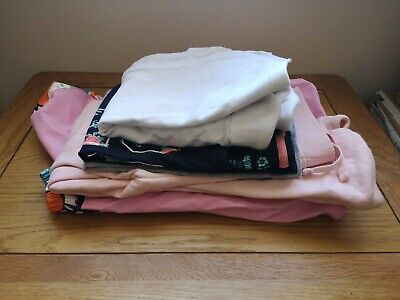 Girls Bundle Of Clothes 6-8 Years ,Polo Neck Shirts, Jogging Bottoms,Vest, Coat