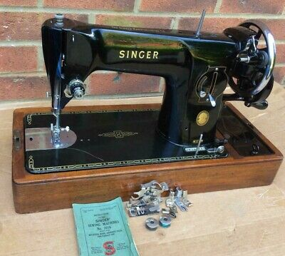 Vintage Singer 201, 201K Aluminium Body Semi-Industrial handcrank sewing machine